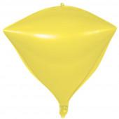 Шар 3D (20''/51 см) Алмаз, Макарунс, Лимонно-желтый, 1 шт.