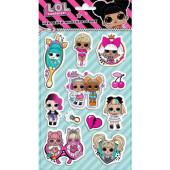 Наклейки объемные Кукла ЛОЛ (LOL), Модные подружки, 14*25 см, 1 шт.