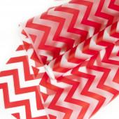 Упаковочная пленка матовая (0,6*8 м) Зигзаг, Красный, 1 шт.