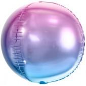 Шар (24''/61 см) Сфера 3D, Сиреневый, Градиент, 1 шт.