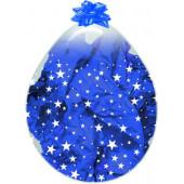 Шар для упаковки (18''/46 см) Звезды, Прозрачный (390), кристалл, 5 ст, 25 шт.
