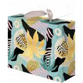 Пакет-коробка подарочный, Джуманджи, Металлик, 22*13*20 см, 1 шт.