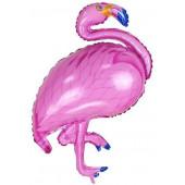 Шар (46''/117 см) Фигура, Фламинго, Розовый, 1 шт.