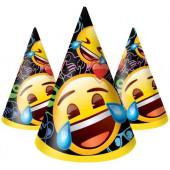 Колпаки Смайл, Emoji, Черный, 6 шт.