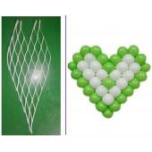 Матрица для шаров Сердце, 38 шаров,  (5''/13 см), 1 шт.