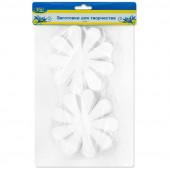 Фигура из пенопласта Цветок, Белый, 10 см, 10 шт.