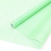Упаковочная пленка матовая (0,7*8,8 м) Тонкие полоски, Мятный, 1 шт.