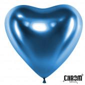 Сердце (12''/30 см) Синий, хром, 50 шт.