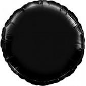 Шар (18''/46 см) Круг, Черный, 1 шт.
