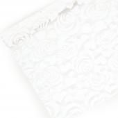 Упаковочная пленка (0,7*8 м) Розы, Белый, 1 шт.
