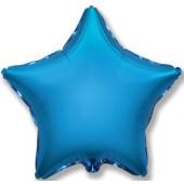 Шар (32''/81 см) Звезда, Синий, 1 шт.