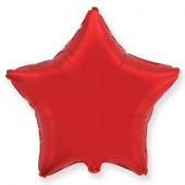 Шар (32''/81 см) Звезда, Красный, 1 шт.