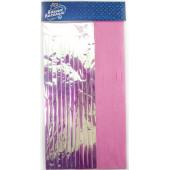 Гирлянда Тассел, Хамелеон/Розовый, Голография, 35*12 см, 10 листов.