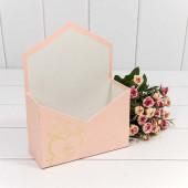 Коробка подарочная Конверт, Ты в моем сердце, Персиковый, 24*18*7 см, 1 шт.
