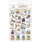 Наклейки объемные Гарри Поттер, Чиби, набор №3, 11*20 см, 1 шт.