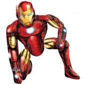 Шар (44''/112 см) Ходячая Фигура, Железный человек, 1 шт. в упак.