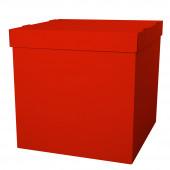 Коробка для воздушных шаров Красный, 60*60*60 см, 1 шт.
