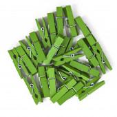Декоративные прищепки Зеленый, 3,5 см, 24 шт.