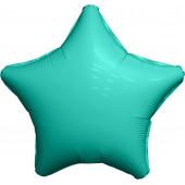 Шар (19''/48 см) Звезда, Тиффани, Сатин, 1 шт.