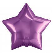 Шар (19''/48 см) Звезда, Фиолетовый, 1 шт.