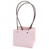 Пакет подарочный, Для цветов, влагостойкий, Розовый зефир, 13*15*12 см, 1 шт.
