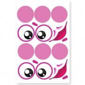 Наклейки Круглые глазки, 2 компл. на листе, 1 шт.