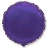 Шар (18''/46 см) Круг, Фиолетовый, 1 шт.