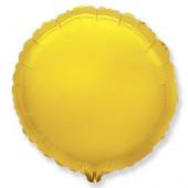 Шар (18''/46 см) Круг, Золото, 1 шт...