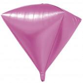Шар 3D (20''/51 см) Алмаз, Розовый, 1 шт.