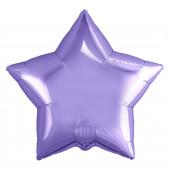 Шар (19''/48 см) Звезда, Пастельный фиолетовый, 1 шт.