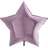 Шар (36''/91 см) Звезда, Сиреневый, 1 шт.