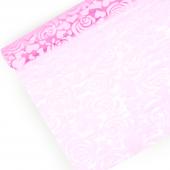 Упаковочная пленка (0,7*8 м) Розы, Розовый, 1 шт.