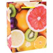 Пакет подарочный, Яркие фрукты, 14*11*6 см, 1 шт.