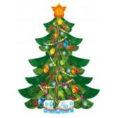 Украшение Новогодняя елочка (настольная), 23 см, 1 шт.