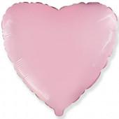 Шар (32''/81 см) Сердце, Розовый, 1 шт.