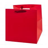 Пакет подарочный, Люкс, Красный, 16*16*16 см, 1 шт.