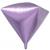 Шар 3D (20''/51 см) Алмаз, Сиреневый, 1 шт.