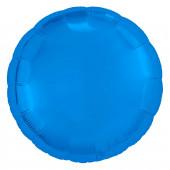 Шар (18''/46 см) Круг, Синий, 1 шт.