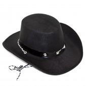 Шляпа Ковбой, Черный, 1 шт....