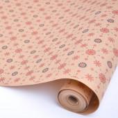 Упаковочная бумага, Крафт 70гр (0,7*10 м) Экошик, Винтажные узоры, 1 шт.