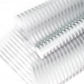 Упаковочная пленка матовая (0,6*8 м) Полосы Люкс, Серебро, 1 шт.
