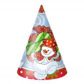 Колпаки Снеговик с подарками, 6 шт.