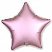 Шар (19''/48 см) Звезда, Розовый фламинго, Сатин, 1 шт.