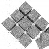 Фигура из пенопласта Куб, Серебро, Металлик, 3 см, с блестками, 12 шт.