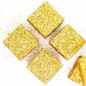 Фигура из пенопласта Куб, Золото, Металлик, 5 см, с блестками, 6 шт.