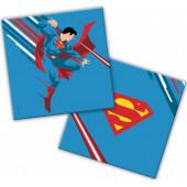 Салфетки, Супермен, Синий, 33*33 см, 20 шт.