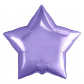Шар (19''/48 см) Звезда, Сиреневый, 1 шт.