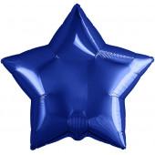 Шар (19''/48 см) Звезда, Темно-синий, 1 шт.