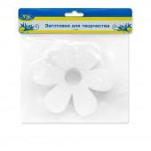 Фигура из пенопласта Цветок, Белый, 10 см, 3 шт.