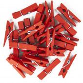 Декоративные прищепки Красный, 3,5 см, 25 шт.